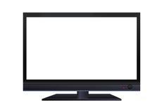 Vista frontale del monitor a grande schermo dell'affissione a cristalli liquidi isolato Fotografia Stock Libera da Diritti