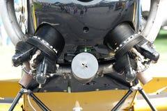 Vista frontale del motore d'annata degli aerei fotografie stock libere da diritti
