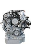 Vista frontale del motore del camion pesante isolato Immagini Stock