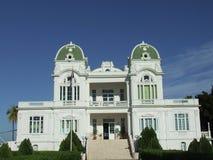 Vista frontale del palazzo blu Fotografie Stock Libere da Diritti
