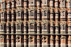 Vista frontale del palazzo di Hawa Mahal Fotografie Stock