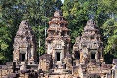 Vista frontale del tempio di Preah Ko, Cambogia Fotografia Stock