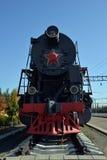 Vista frontale del treno a vapore Fotografia Stock Libera da Diritti