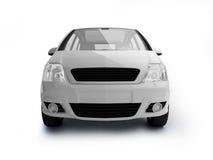 Vista frontale del veicolo bianco multiuso Immagini Stock Libere da Diritti