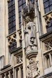 Vista frontale dell'abbazia del bagno, Regno Unito Fotografia Stock