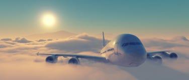 Vista frontale dell'aeroplano Immagine Stock Libera da Diritti