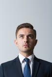 Vista frontale dell'uomo d'affari fotografie stock libere da diritti