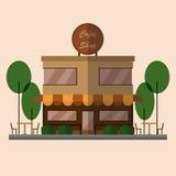 Vista frontale della caffetteria Fotografia Stock Libera da Diritti