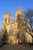 Vista frontale della cattedrale di York, York, Inghilterra. immagini stock