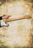 Vista frontale della chitarra con spazio per testo Immagini Stock Libere da Diritti