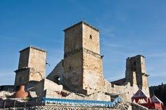 Vista frontale della fortificazione di Diosgyor Fotografia Stock