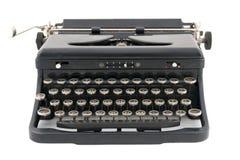 Vista frontale della macchina da scrivere antica nera Immagine Stock