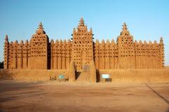 Vista frontale della moschea del fango di Djenne Fotografia Stock