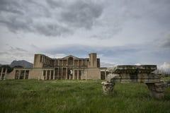 Vista frontale della palestra di Sardis, Manisa/Turchia immagine stock libera da diritti