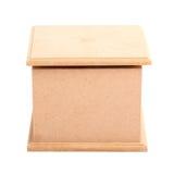 Vista frontale della scatola di legno marrone Fotografie Stock Libere da Diritti