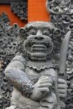 Vista frontale della statua di Balinese Immagini Stock Libere da Diritti