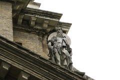 Vista frontale della statua di St Paul fotografia stock