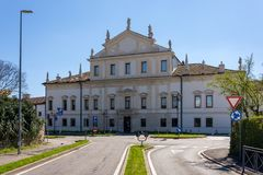 Vista frontale della villa Valmarana Morosini in Altavilla Vicentin Fotografie Stock Libere da Diritti