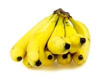 Vista frontale delle banane gialle mature Fotografia Stock Libera da Diritti