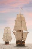 Vista frontale delle navi alte Immagini Stock Libere da Diritti