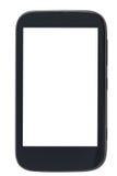 Vista frontale dello smartphone con lo schermo tagliato Immagini Stock