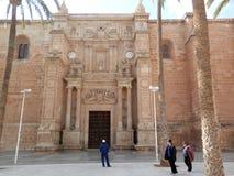 Vista frontale di Impessive di Almeria Cathedral Immagini Stock