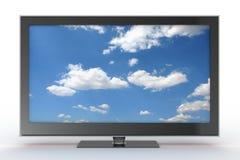 Vista frontale di plasma TV Immagine Stock Libera da Diritti