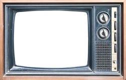 Vista frontale di retro TV Immagine Stock