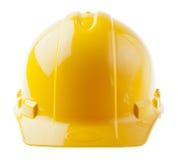 Casco isolato - giallo del frontale Immagini Stock Libere da Diritti