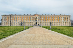 Vista frontale Royal Palace Caserta Immagini Stock Libere da Diritti