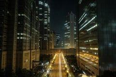 Vista futurista da construção metropolitana do governo do Tóquio no Tóquio de Shinjuku, Japão fotografia de stock royalty free