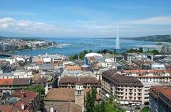 Vista general de Ginebra Imagen de archivo
