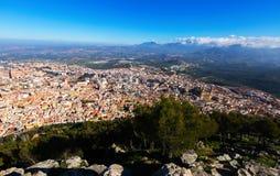Vista general de Jaén del castillo Imagenes de archivo