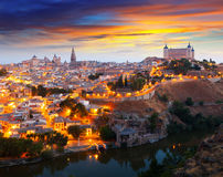 Vista general de Toledo de la colina Imagen de archivo