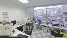 Vista generale del laboratorio medico archivi video
