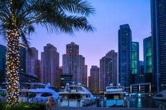 Vista generale del porticciolo del Dubai Fotografie Stock Libere da Diritti