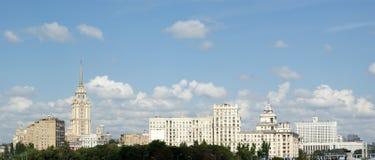 Vista generale della città Mosca con una parte migliore Fotografie Stock