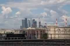 Vista generale della città Mosca con una parte migliore, Russia Fotografia Stock