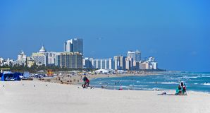 Vista generale di Miami Beach, Florida Fotografia Stock Libera da Diritti