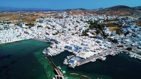 Vista geral aérea da ilha de greece vídeos de arquivo