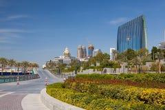 Vista geral da alameda de Dubai em Dubai Imagem de Stock