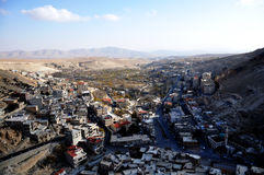 Vista geral da cidade de Maaloula Foto de Stock Royalty Free