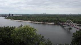 Vista geral da cidade Kiev vídeos de arquivo
