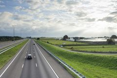 Vista geral da estrada A4 fotografia de stock