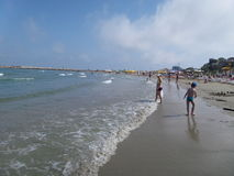 Vista geral da praia Fotografia de Stock
