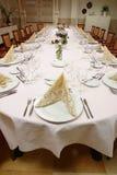 Vista geral da tabela do restaurante Imagens de Stock