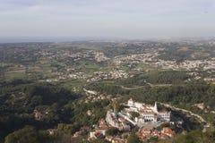 Vista geral da terra de Sintra Imagem de Stock