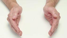 Vista geral das mãos filme