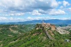 Vista geral de Civita di Bagnoregio Imagens de Stock Royalty Free