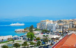 Vista geral de Corfu, greece Fotos de Stock Royalty Free